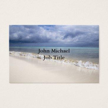 Beach Themed Beach Blue Sky Business Card