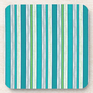 Beach Blue Stripes Drink Coaster