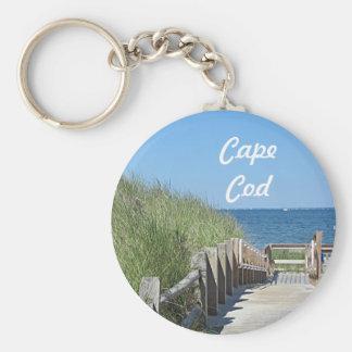 Beach boardwalk photo keychain
