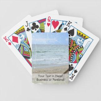 beach boardwalk steps grunge scratch bicycle playing cards