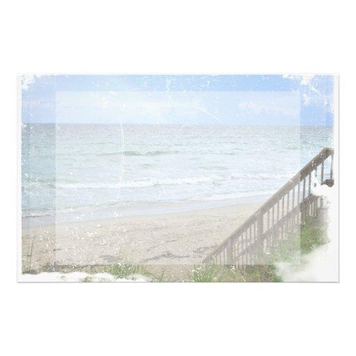 beach boardwalk steps grunge scratch stationery