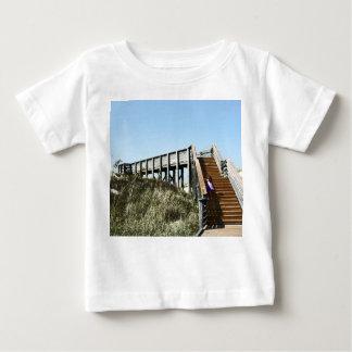 Beach Boardwalk with girl, Florida Cape san blas Baby T-Shirt