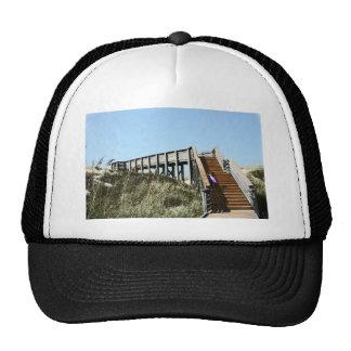 Beach Boardwalk with girl, Florida Cape san blas Trucker Hat