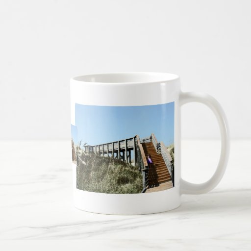 Beach Boardwalk with girl, Florida Cape san blas Classic White Coffee Mug