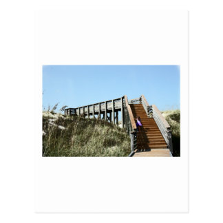 Beach Boardwalk with girl, Florida Cape san blas Postcard