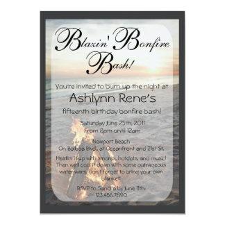 "Beach Bonfire Invitation 5"" X 7"" Invitation Card"
