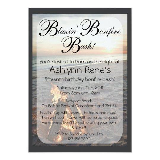 beach bonfire invitation zazzle com