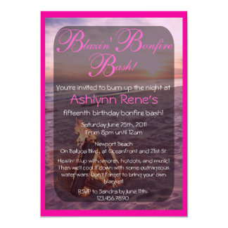 Beach Bonfire Invitation