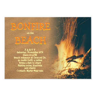bonfire invitations zazzle