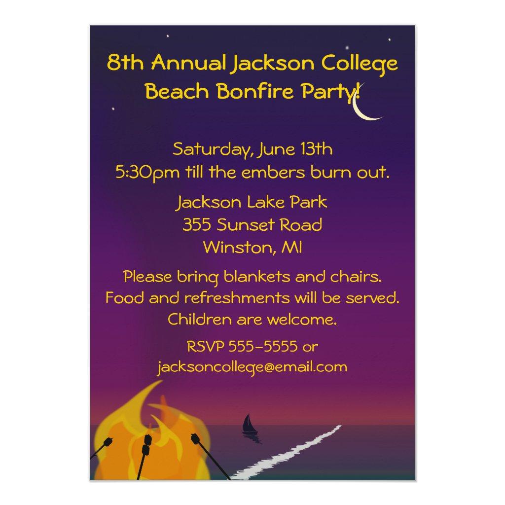 Bonfire Party Invitation Wording - Life Style By Modernstork.com