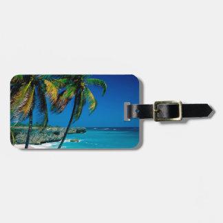 Beach Bottom Bay Barbados Bag Tag