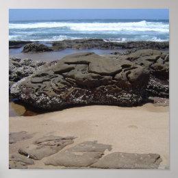 Beach Boulders print