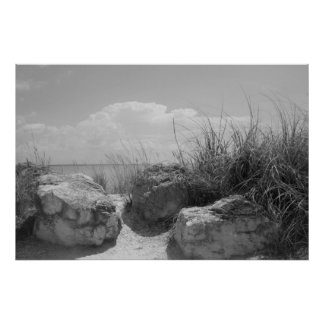 Beach Boulders Poster
