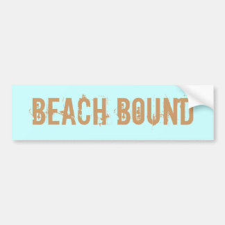 Beach Bound bumper sticker
