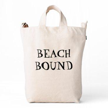 Beach Bound Canvas Bag