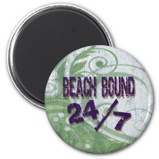 Beach Bound green Refrigerator Magnet
