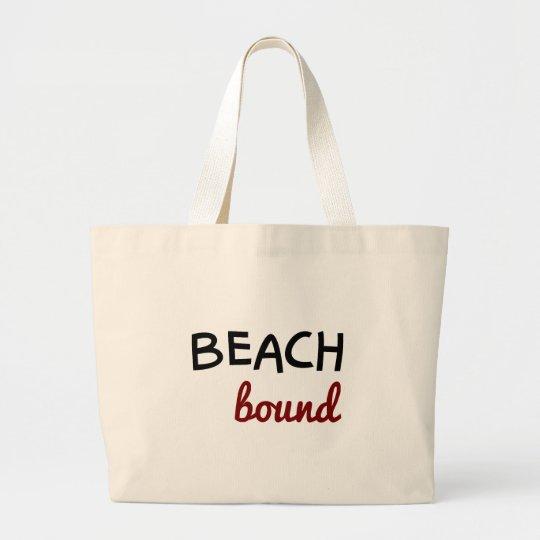 Beach bound large tote bag