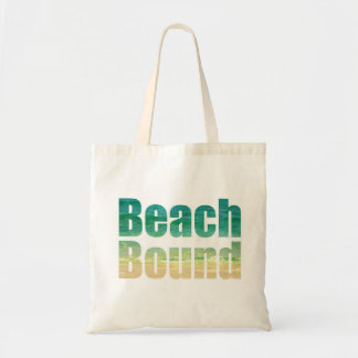 beach bound saying graphic letter bag