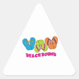 Beach Bound Triangle Stickers