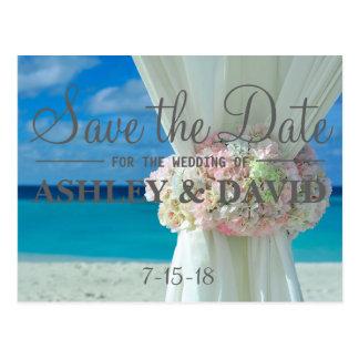 Beach Bouquet Save The Date Postcard