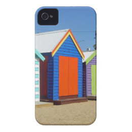 Beach Box Hut Melbourne Australia iPhone 4 Cover