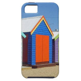 Beach Box Hut Melbourne Australia iPhone SE/5/5s Case