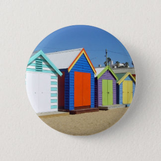 Beach Box Hut Melbourne Australia Pinback Button