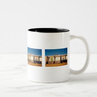Beach Boxes Row Photo Mugs