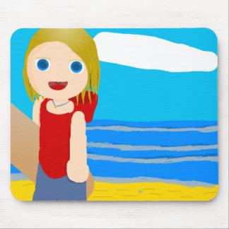 beach boy mouse pad