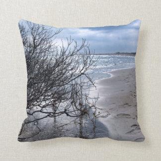 Beach Branch Throw Pillow