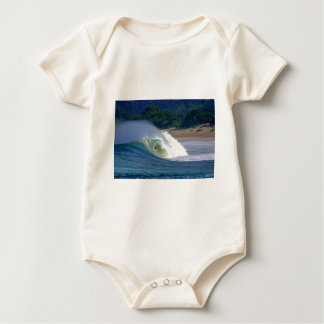 Beach break green surfing wave Java coast Bodysuit