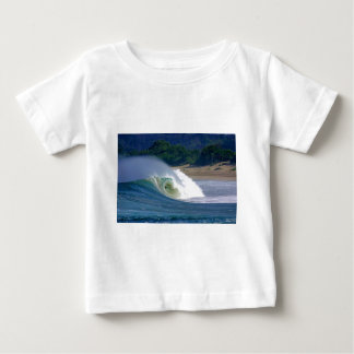 Beach break green surfing wave Java coast Infant T-shirt