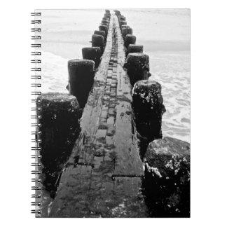 Beach Breakwater - Center Spiral Notebook