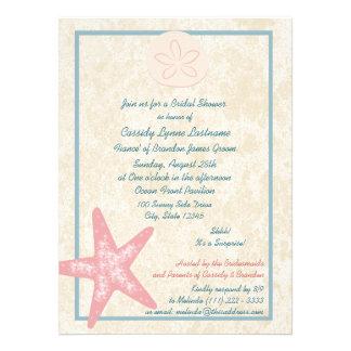 Beach Bridal Shower Custom Invitations