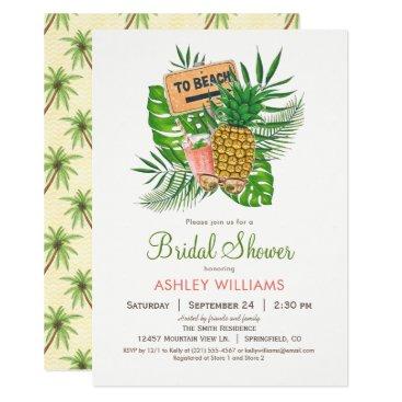 Beach Themed Beach Bridal Shower Invitation