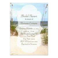 Beach bridal shower invitations announcements zazzle beach bridal shower invitations filmwisefo Image collections