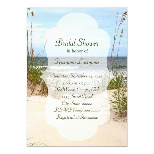 Beach bridal shower invitations zazzle beach bridal shower invitations filmwisefo