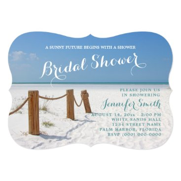 Beach Themed Beach Bridal Shower Invitations