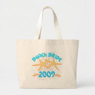 Beach Bride 2009 Large Tote Bag