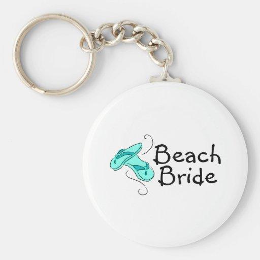 Beach Bride (Beach Wedding) Keychains