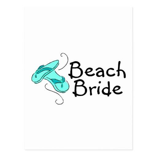 Beach Bride (Beach Wedding) Post Card