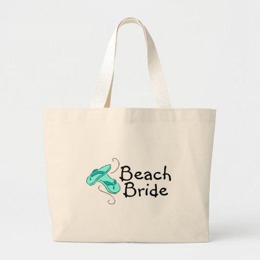 Beach Bride Beach Wedding Tote Bags