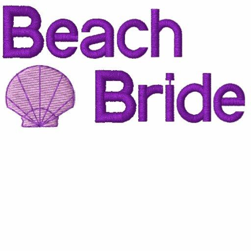 Beach Bride Embroidered Shirt