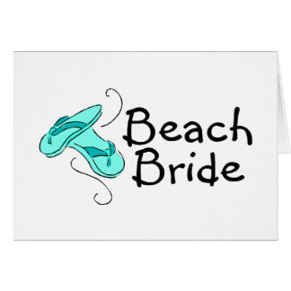 Beach Bride (Flip Flops) Card