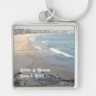 Beach Bride & Groom Keychain