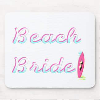 Beach Bride Mouse Pad