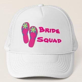 Beach Bride Squad Hat:  Flip Flop Design Trucker Hat