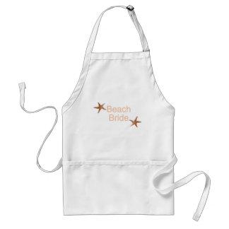 Beach Bride Starfish Design Adult Apron