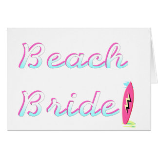 Beach Bride (Surfboard) Card