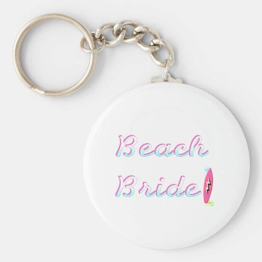 Beach Bride (Surfboard) Keychain